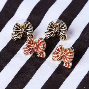 Kate Spade Out Of The Loop Bow Statement Earrings